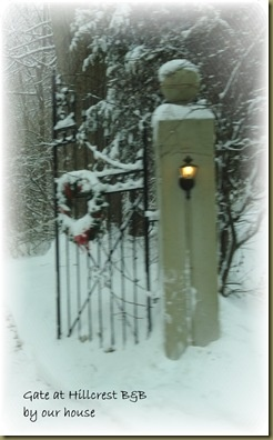 Post and Gate: Cold Outside