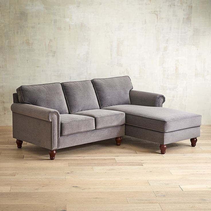 Alton Zinc 2-Piece Rolled Right Arm Chaise Sectional : pier one sectional - Sectionals, Sofas & Couches