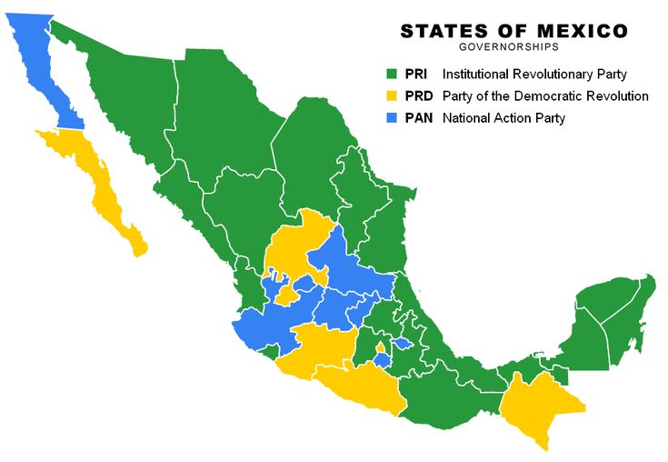 This Political Map Shows The Different Dominations Of Political - Mexico political map