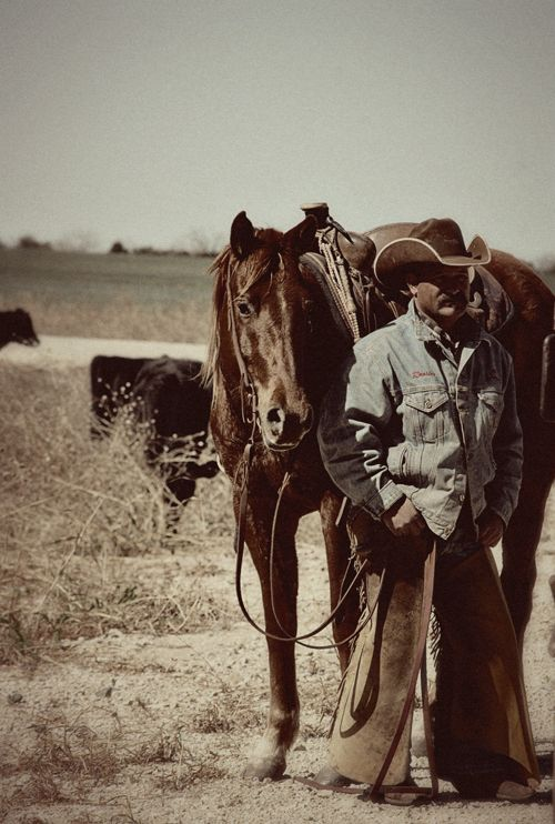 Texas Ranch Cowboy - Really good photo! His horse is really nice.
