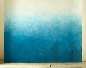 west elm ombre wall painting