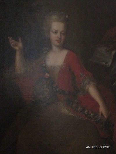 Archduchess Maria Josepha of Austria as Euterpe, the Muse of Music  Detail by Johann Georg Weikert  1765  Summer 2012, Le Petit Trianon, Le Château de Versailles