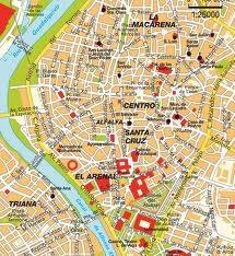 Seville centro ciudad mapa
