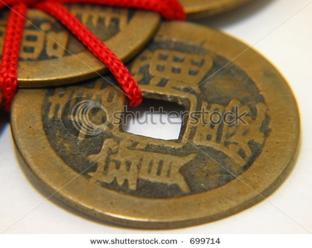 Tie 3 Chinese coins together with red thread and place them in the metal  corner of your living room (Southeast/east) to enhance income luck. Make sure you use the red thread - this is what energizes the coins!