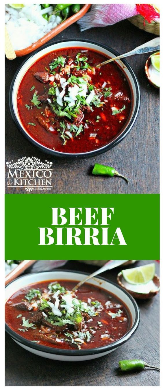 Birria is a classic dish from the State of Jalisco, and as a matter of fact, two of the most popular dishes on the blog are also from Jalisco: Pozole and Menudo. #recipe #mexican #soup #beef