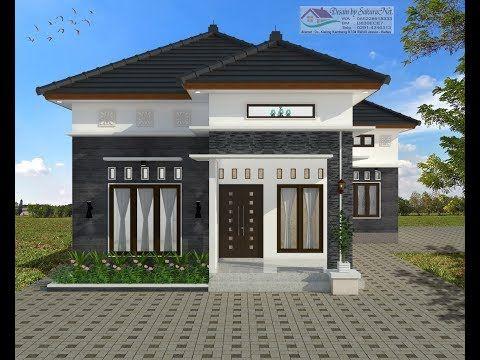 modern house (7,5x12+4 untuk leter l) 3 k. tidur. desain