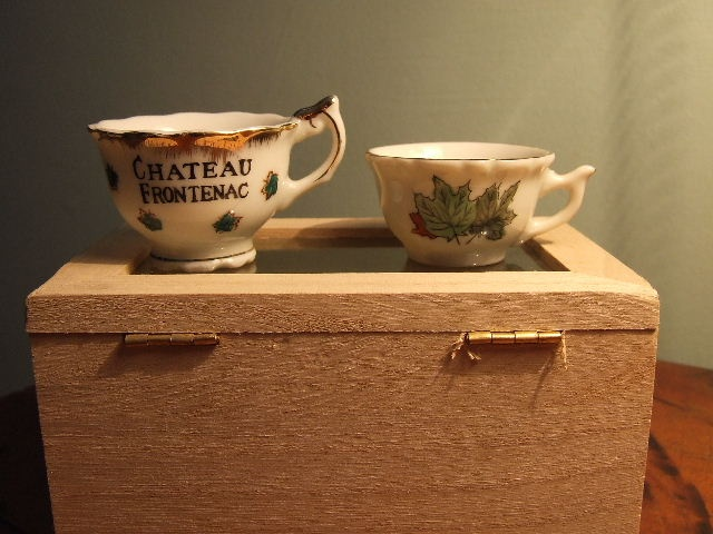 Miniature vintage teacups- the things I never keep for a collection!