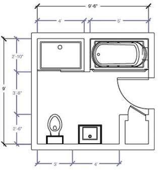 32+ best ideas for bathroom layout 6x12 | bathroom layout