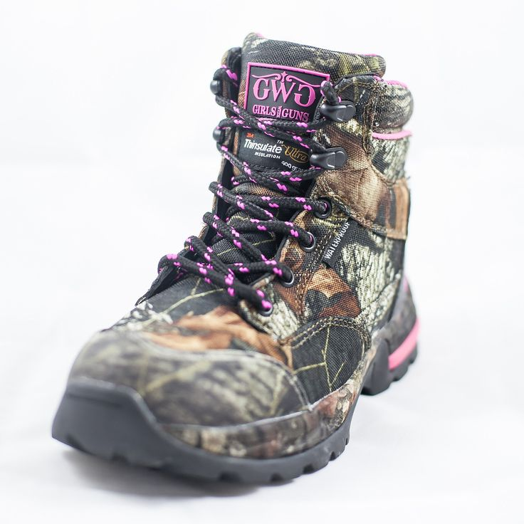 "Girls with Guns Mossy Oak Camo Womens/Ladies ""The Huntress"" 6"" Insulated Hunting Boot"