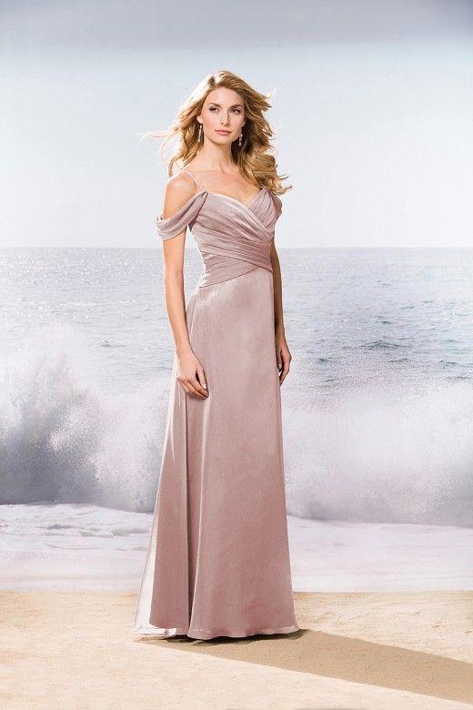 177fd9b9fce L174057 Long V-neck Belsoie Tiffany Chiffon Bridesmaid Dress ...