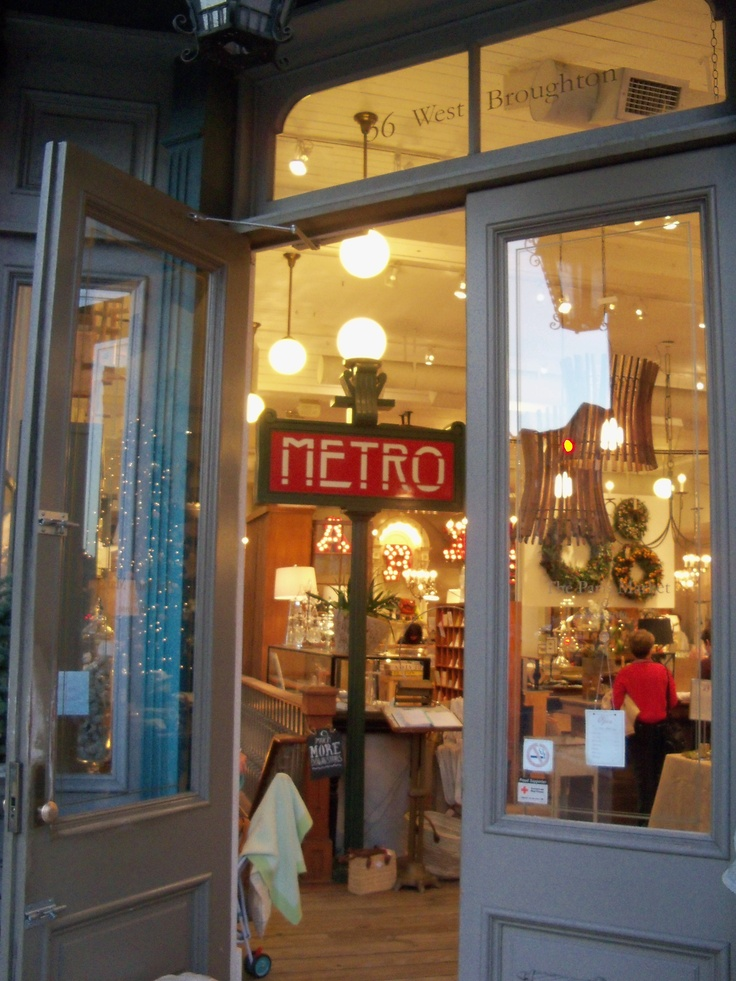 Seeing the french metro sign in a shop in savannah for Fish market savannah ga
