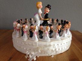 bruidspaar ik heb je taart incl topper
