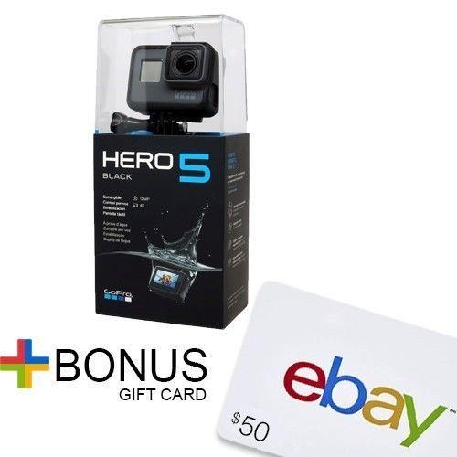 GoPro Hero5 Black Action Camera (Plus FREE $50 eBay Gift Card) $399 @ eBay