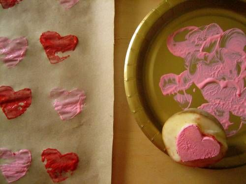 potato stamp Valentine's Day crafts for toddlers