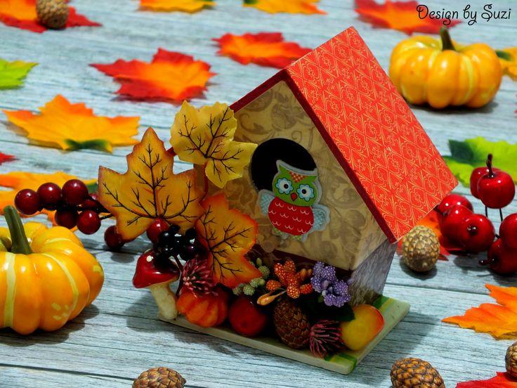 Fall Birdhouse Decoration