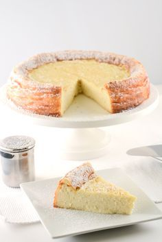 Ricotta cheesecake--Am thinking about making this for the Christmas party and topping it with a cranberry filling to make it more seasonal and festive looking.