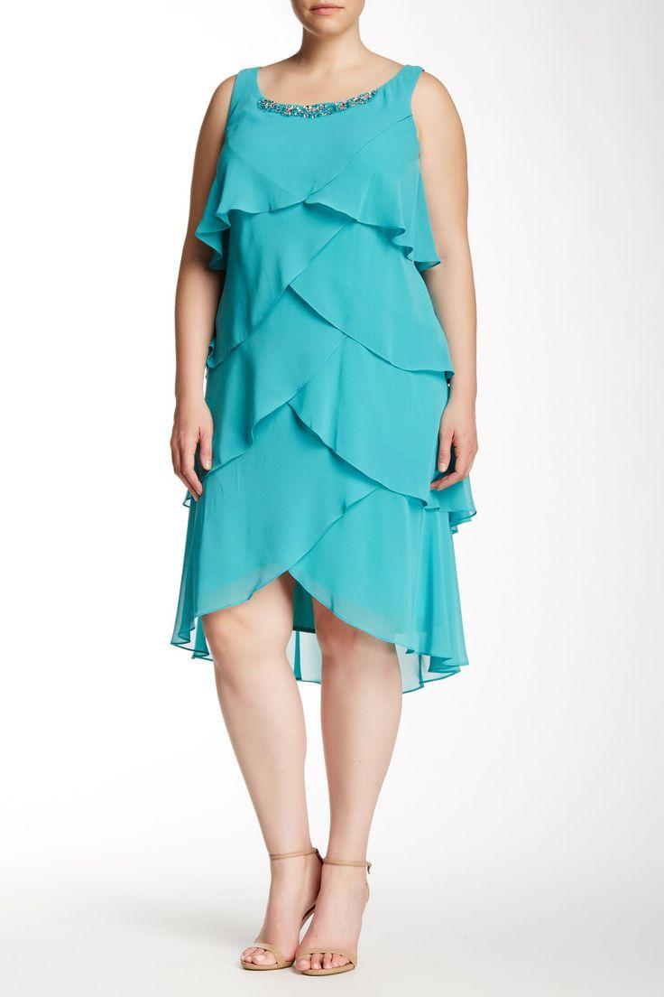 Sl sl fashion dresses - Sl Fashions Tiered Dress Jacket 2 Piece Set Plus Size
