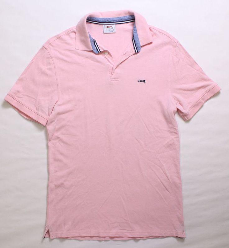 LE TIGRE Men's Pink Polo Shirt, Size S