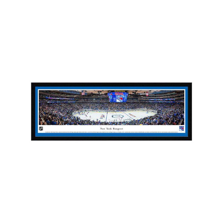 New York Rangers Hockey Arena Center Ice Framed Wall Art, Multicolor
