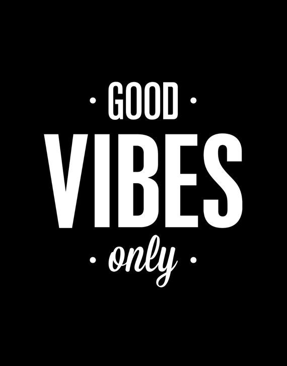 "Typography Print Poster Art ""Good Vibes Only""  $12.00 Etsy www.etsy.com/shop/TheMotivatedType www.twitter.com/Motivated_Type"