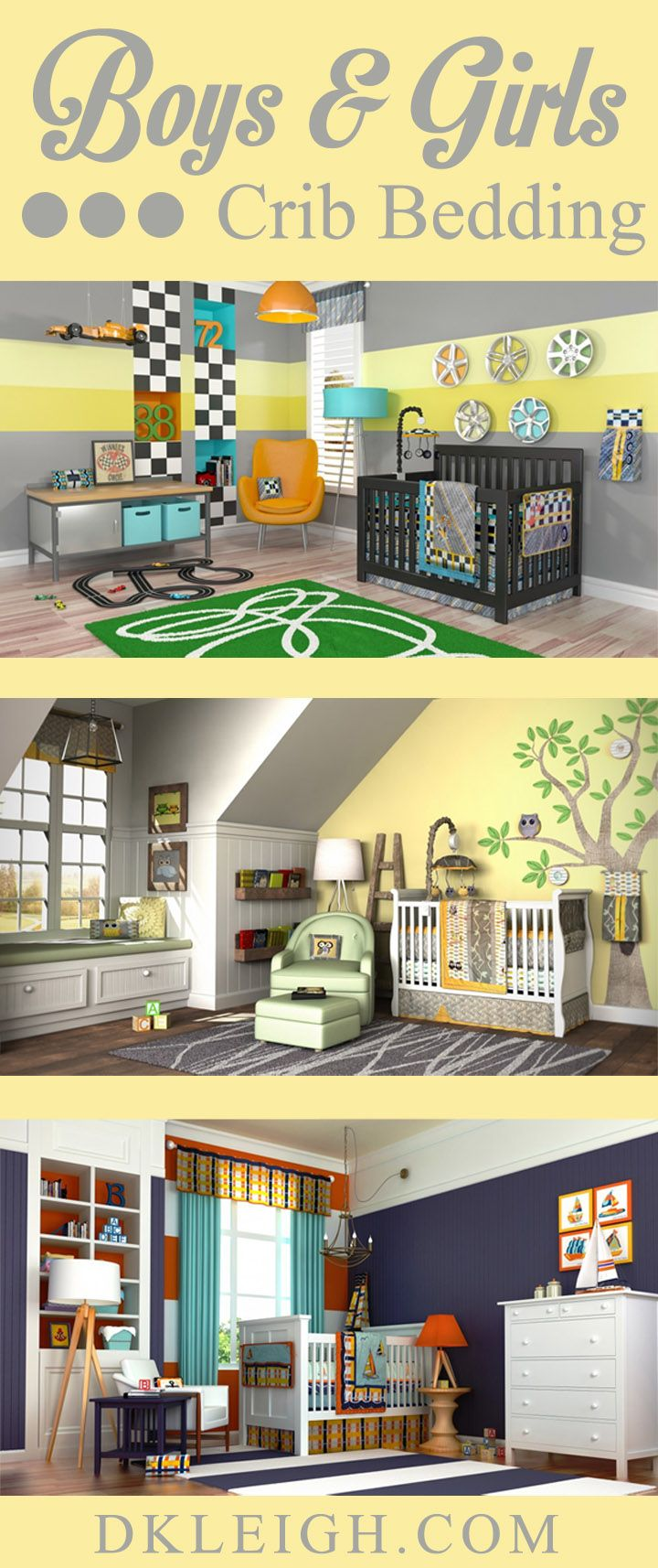 Leigh gender neutral 10pc owl baby crib bedding set grey yellow green - Boys And Girls Crib Bedding