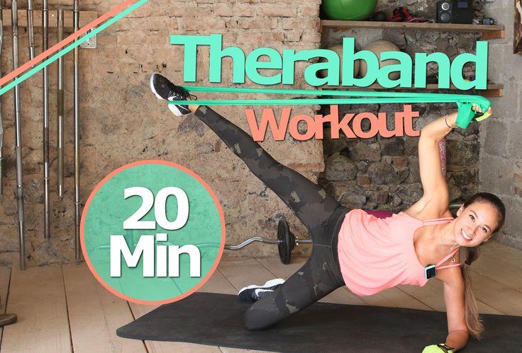 Theraband Übungen - 20 Min Gummiband Workout für Anfänger und Fortgeschr...