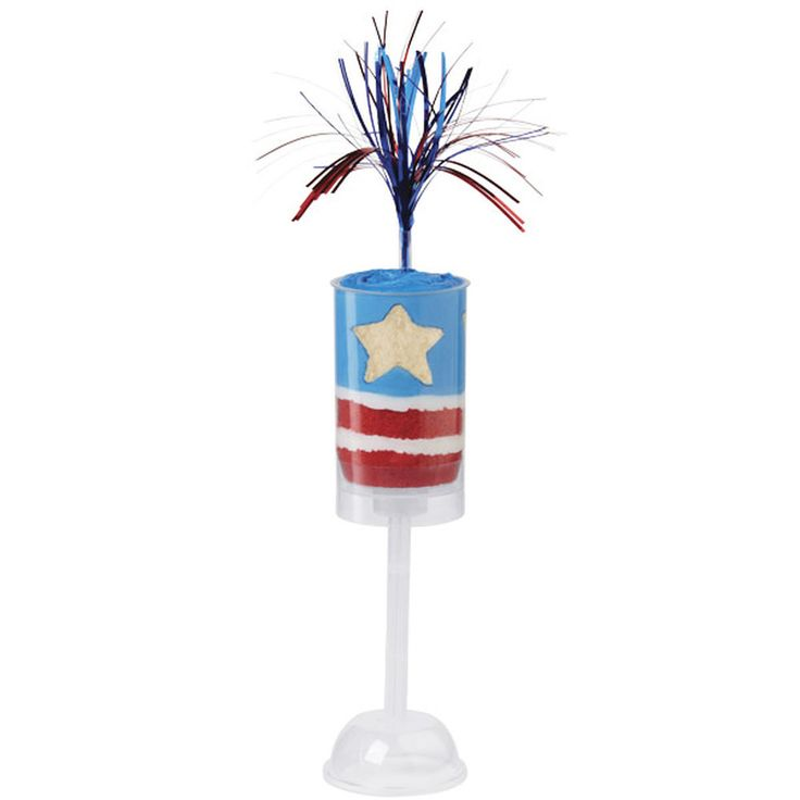 These treat pops are fantastic to serve at any patriotic celebration! Use the Star Cut-Outs Fondant Cutters to cut star shape from cake.
