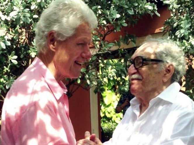 Se reúnen 'viejos amigos', Clinton visita a Gabriel García Márquez