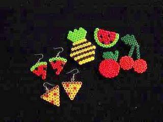 Brincos Frutos -Mama Beads. Hama Lover´S: Pendientes Hama