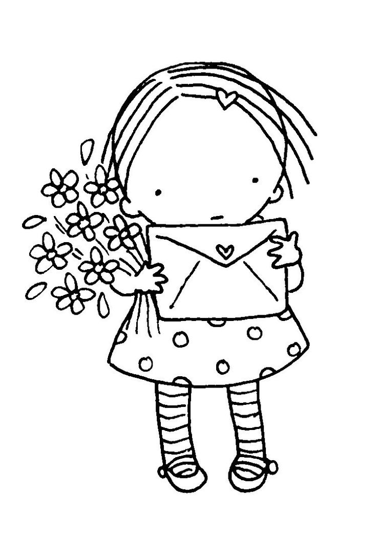 Niña con flores