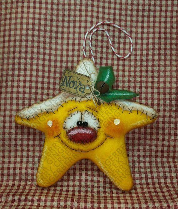 Estrella brillante ornamento acabado primitivo muñeca OOAK