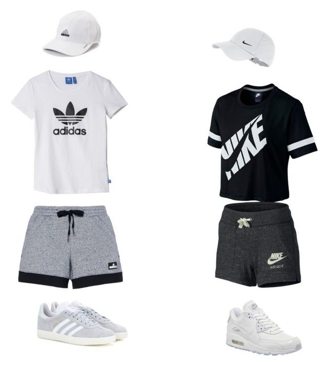"""""""ADIDAS VS NIKE"""" by juliapedersen0 on Polyvore featuring adidas and NIKE"""