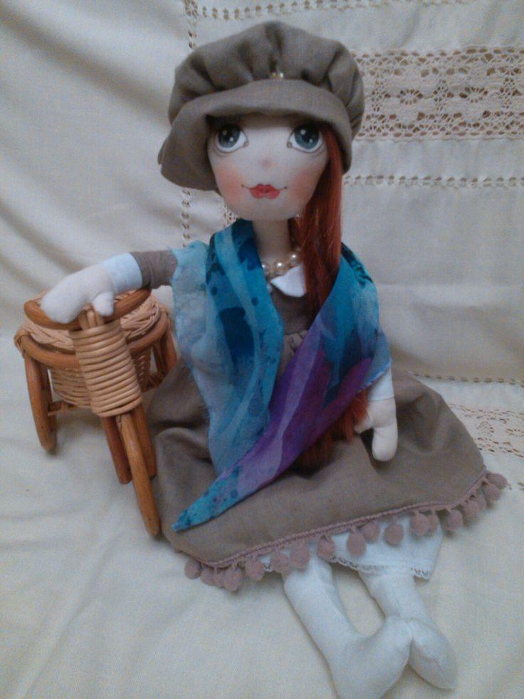 Текстильная интерьерная кукла. Ручная работа.