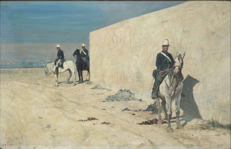 Giovanni Fattori, Piantoni. Il muro bianco (In vedetta), 1874 olio su tela, cm. 37x56 Fondazione Progetto Marzotto