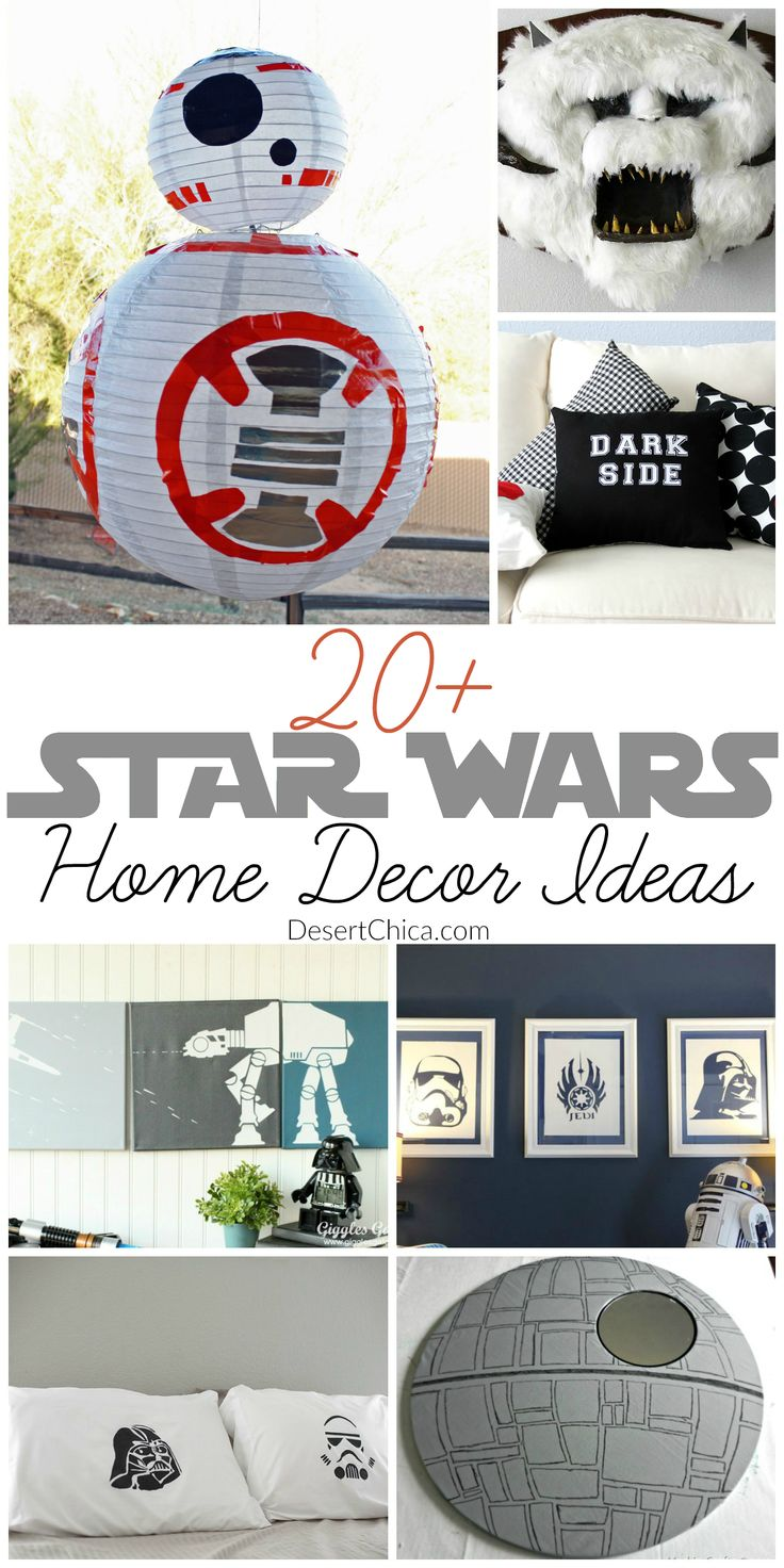 Looking for a fun DIY Star Wars Idea to make? Check out this list of DIY Star Wars home decor projects. Bring the light side (or dark side) to your home!