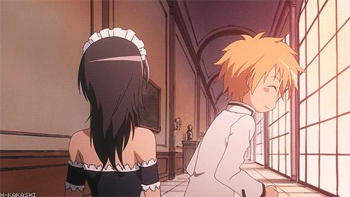 Kaichou wa Maid Sama: usui only shows this side to her lol aww