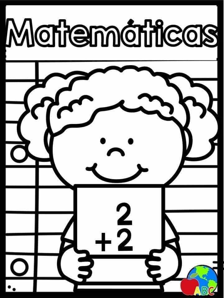 Portadas Materias Para Colorear Portadas De Matematicas Portadas Imagenes Para Colorear Niños