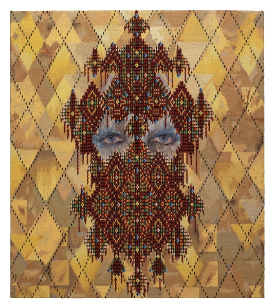 'The Chandelier' by Abeer Seikaly (Winner of the 'Rug Company' Wall Hanging Competition)  All Embroidered :) :) :)