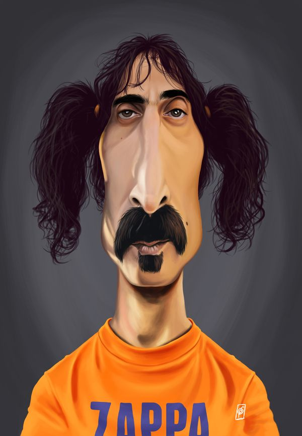 Frank Zappa art | decor | wall art | inspiration | caricature | home decor | idea | humor | gifts