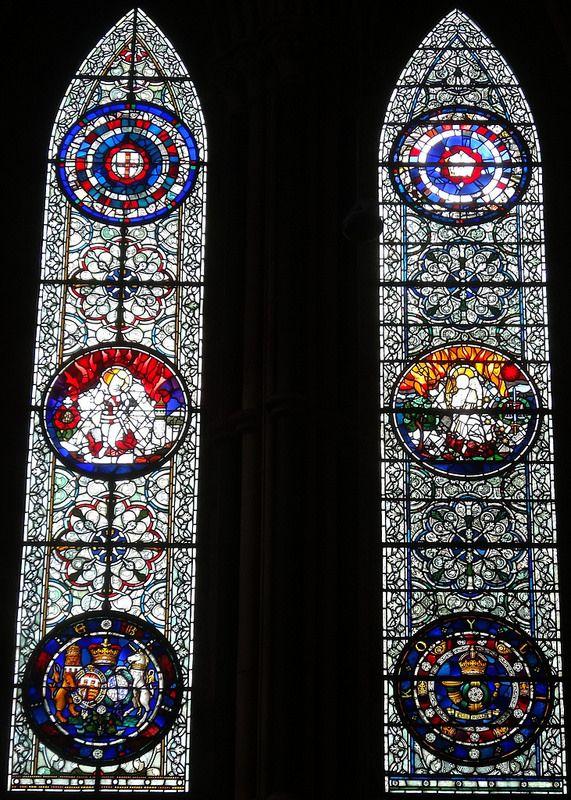 York Minster : St John's Chapel - North Windows