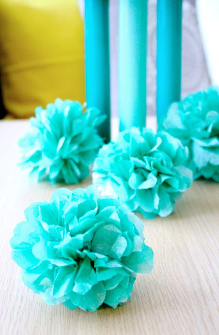 DIY: mini-pom-poms lautasliinasta / napking mini-pom-poms