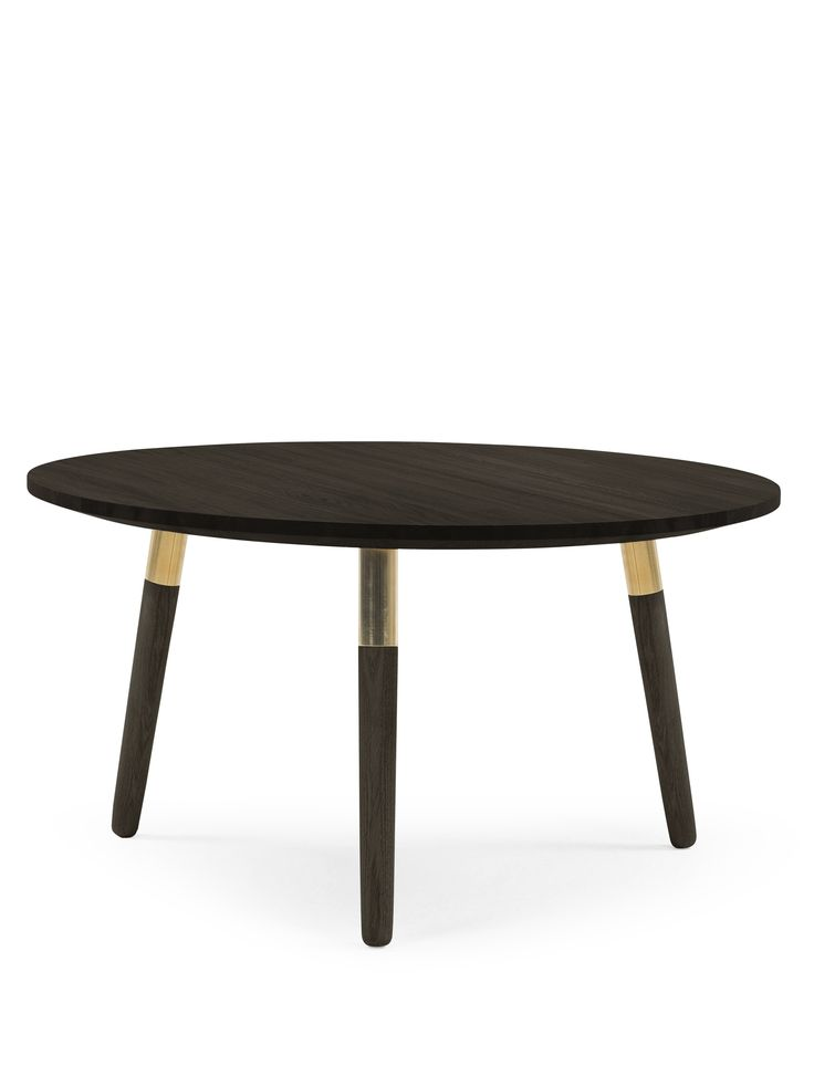 The Range Coffee Table In Dark Stained Ash And Br A Contemporary