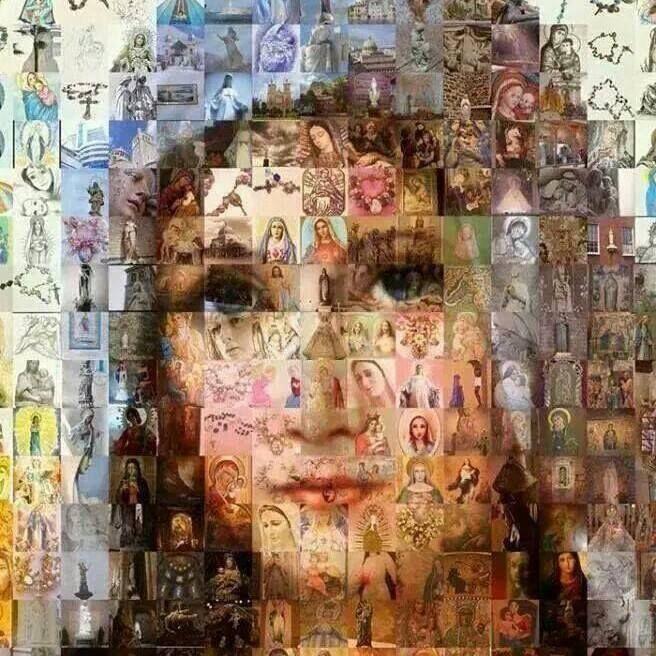 Todas as Marias do mundo... Ela tem inúmeras denominações, conforme cabe em cada comunidade, cada cidade, cada país…  mas é a mesma, Cheia de Graça, Imaculada, Mãe de Jesus e de todos nós humanos… de quaisquer cor, quaisquer raças, quaisquer sexos, quaisquer credos… MÃE DE TODOS, ROGAI A DEUS POR NÓS, OS PECADORES! BENDITA SOIS, ENTRE AS MULHERES…  BENDITO É O FRUTO DO TEU VENTRE: JESUS!       (por Mary)