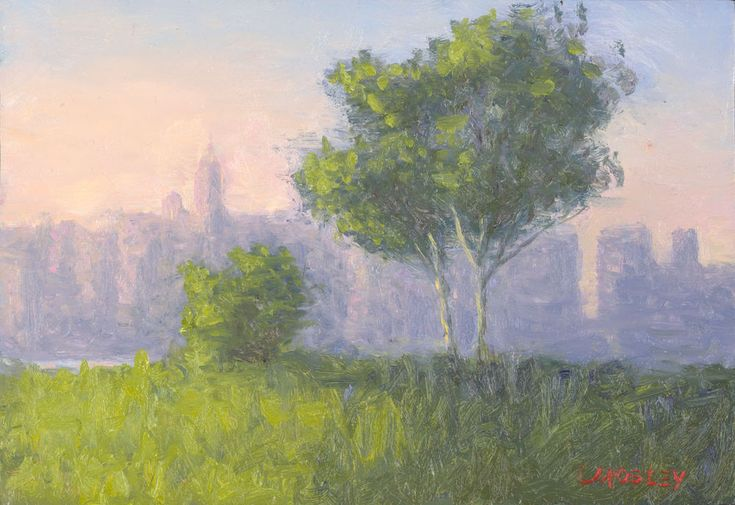 East River View from Williamsburg Brooklyn New York #Impressionism