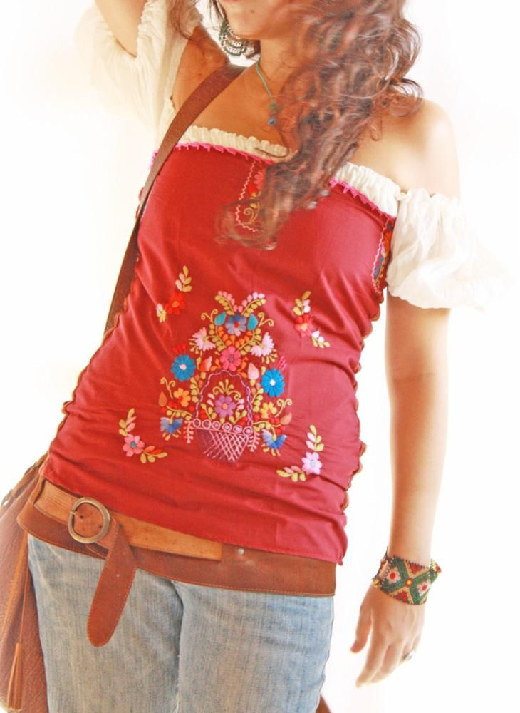 Mexican Ruffled Blouses 59