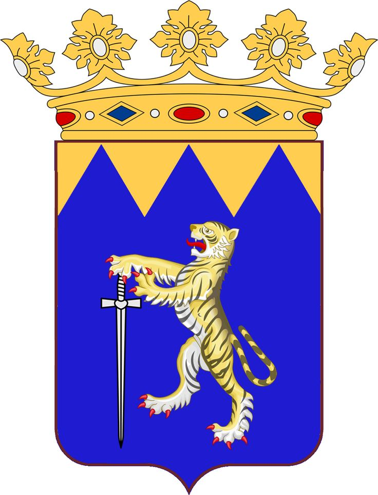 Coat of Arms of Her Excellency Sanne af Frasse von Skjervik, Lady Chamberlain of the Principality of Lorenzburg