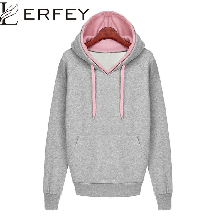 Women Autumn Winter Sweatshirt Casual Double Hoodies Long Sleeve Female Pullover Loose Tops Sweatshirts Women's Clothings New ** Details can be found by clicking on the image.