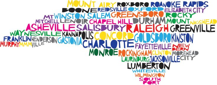 This is a print of an original illustration that was then digitally colored. It features over 40 cities in North Carolina with the major ones as well as some out-of-the-way small towns. If you don't see your community on this map, the artist will customize it.