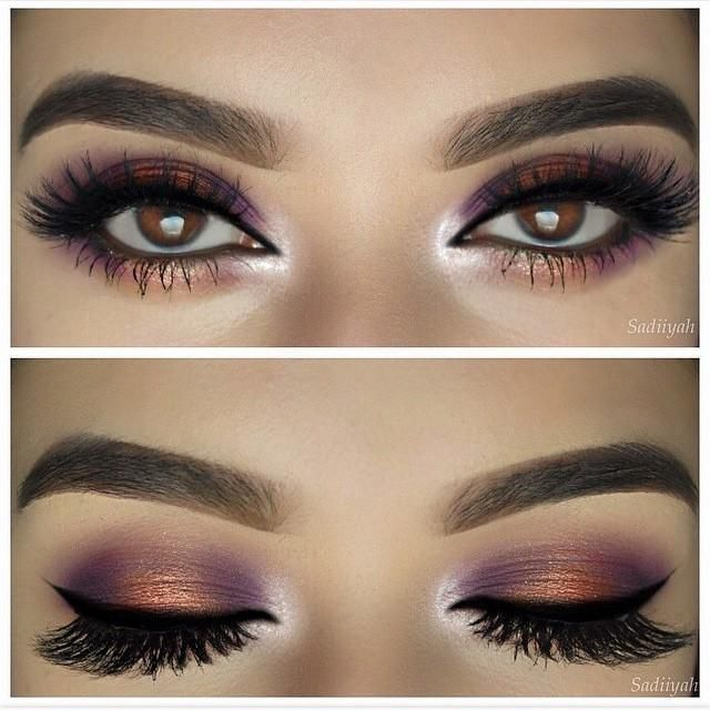 Daily Fash For Fashion : Purples and coppers never looked more amazing