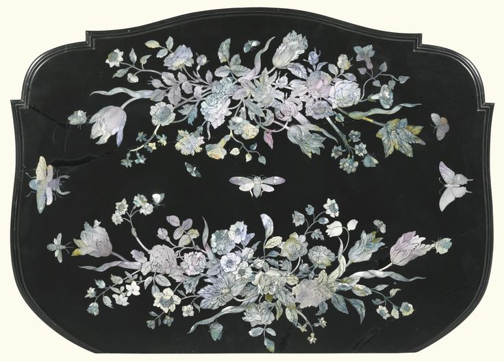 A German mother-of-pearl black slateinlaid table top late 17th century, by Franz de Hamilton | Lot | Sotheby's